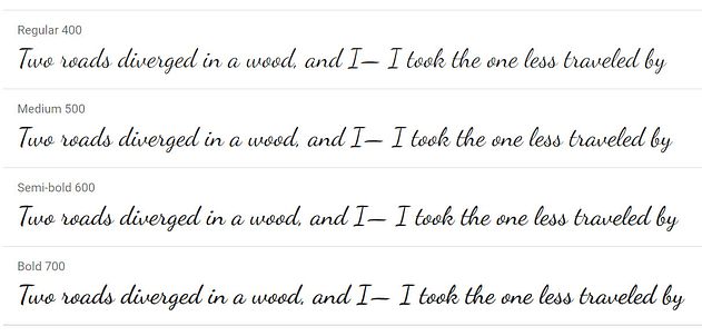Dancing Script - 20 migliori font di Google per i blog e come usarli su WordPress  blog