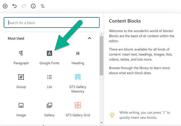 the block - 20 migliori font di Google per i blog e come usarli su WordPress  blog